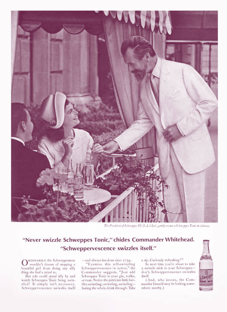 Old Schweppervescence Ad